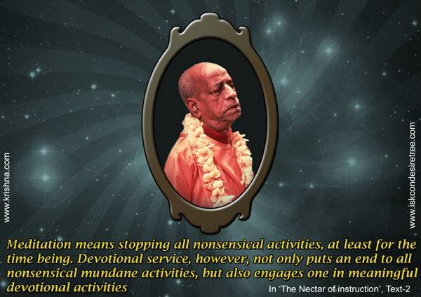 What is meditation by srila prabhupada